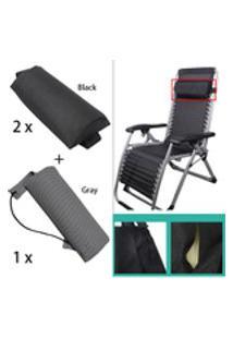 3Pcs Almofadas De Almofada De Cabeça Para Cadeiras Dobráveis De Estilingue / Poltrona / Poltrona Reclinável