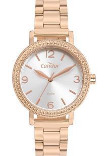 Relógio Feminino Condor Co2035Mun/4J 32Mm Aço Rosé - Tricae