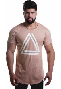 Camiseta Top Fit Triangle Caramelo