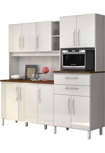 Armário De Cozinha Rubi 10 Portas Branco Vitamov