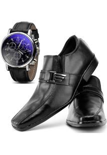 Sapato Social Relógio Top Flex 600L Preto