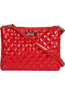 82d3ea2a6 ... Bolsa Santa Lolla Transversal Matelassê Logo - Feminino-Vermelho