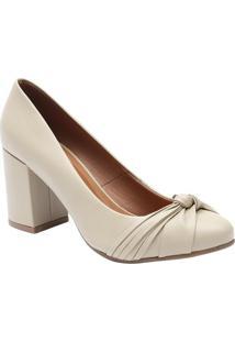 2a1e28f6f4 Sapato Caramelo Drapeado feminino