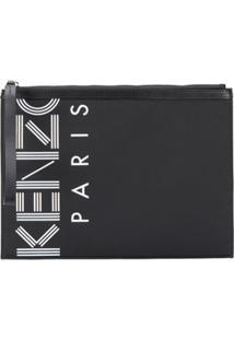 Kenzo Clutch Com Logo - Preto