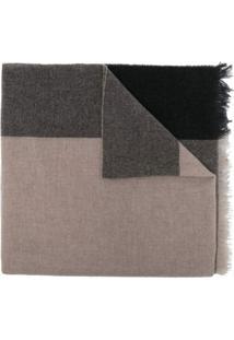 Lady Anne Cachecol Color Block De Cashmere - Neutro