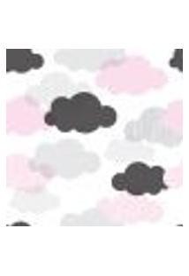 Papel De Parede Adesivo - Nuvens Rosas - 036Ppb
