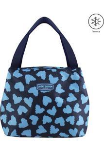 Bolsa Térmica Animal Print- Azul Marinho & Azul Claro
