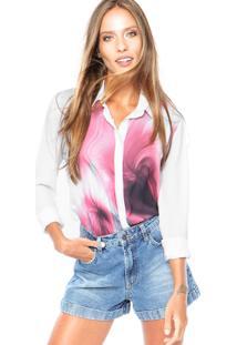 Camisa Calvin Klein Abstrata Branca