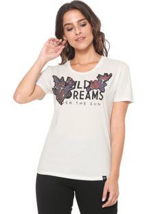 Camiseta Ellus Bordada Wild Dreams Off-White