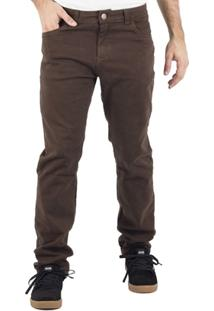 Calça Alfa Sarja Marrom - Masculino