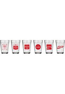 Conjunto De Copos Americano Coca-Cola Em Vidro Sodacal 190 Ml Com 06 Peças - Nadir Figueredo