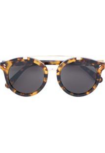 R  1970,00. Farfetch Stella Mccartney Eyewear Óculos De Sol Redondo - Marrom e4c6f83bca