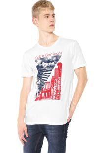 Camiseta Calvin Klein Jeans Nyc Branca