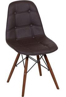 Cadeira Eames Botonãª- Cafã© & Marrom- 83X44X39Cm-Or Design