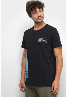 Camiseta Colcci Estampada Manga Curta Masculina - Masculino-Preto