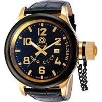 9de7e96eb3a Relógio Invicta Analógico 012425 Masculino - Masculino-Dourado+Preto