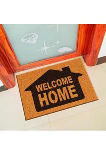 Capacho De Vinil Welcome Home Amarelo