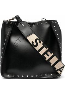 Stella Mccartney Stella Logo Studded Shoulder Bag - Preto