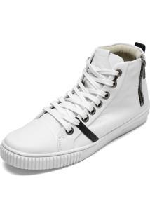 Tênis Sneaker Calvin Klein Zíper Branco
