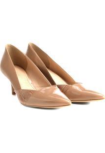 Scarpin Shoestock Salto Médio Texturas - Feminino-Bege