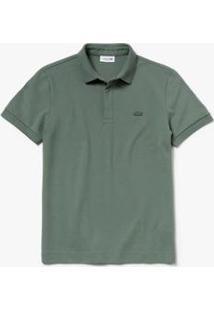 Camisa Polo Lacoste Masculina - Masculino-Verde Militar