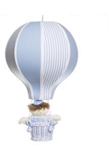 Lustre Balão Com Boneco Potinho De Mel Azul