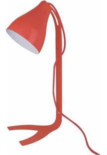 Abajur Moderno Lint- Vermelho & Branco- 43X18Xø12Cm