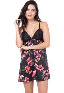 Camisola Cetim Homewear Estampado| 589.0724