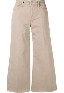 Frame Cropped Wide Leg Jeans - Neutro