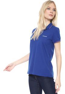 Camisa Polo Calvin Klein Jeans Listras Azul