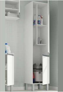 Armário Multiuso Com 2 Portas E 2 Prateleiras Bs 34 - Brv Móveis - Branco
