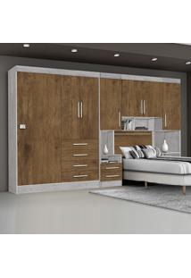 Dormitório Georgia Ja Avelã / Jequitibá Para Cama Box 0,88M Solteiro