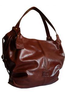 Bolsa Line Store Leather Malú Couro Marrom Avermelhado.
