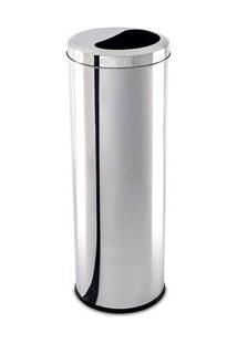 Lixeira Brinox Meia Lua Decorline Em Aço Inox - 16,5 L