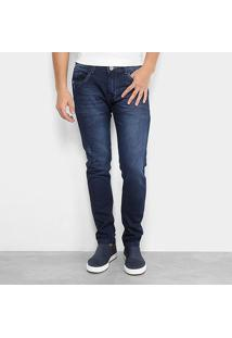 Calça Jeans Skinny Preston Estonada Masculina - Masculino