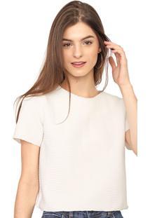 Blusa Hering Texturizada Off-White