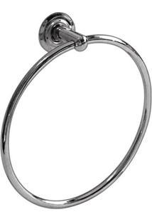 Porta Toalha Em Aço Inox Circular