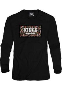 Casaco Moletom Skull Clothing Kings Ny Masculino - Masculino-Preto