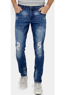 Calça Jeans Skinny Rock & Soda Stone Puidos Masculina - Masculino