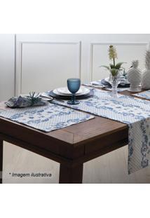 Jogo Americano Chateau- Azul & Branco- 2Pã§S- 110Sultan