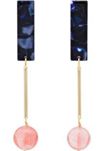 Iuo Drop Ball Earrings - Estampado