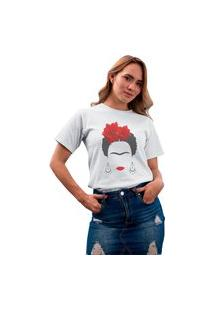 Camiseta Feminina Mirat Frida Branca