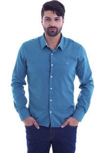Camisa Slim Fit Live Luxor Verde 2112 - Gg