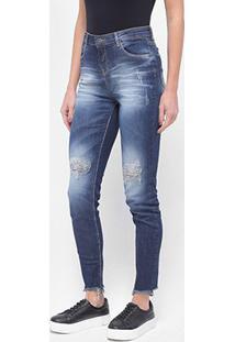 Calça Jeans Skinny Enfim Destroyed Feminina - Feminino
