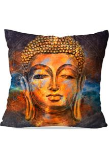 Capa De Almofada Avulsa Decorativa Buda Color 45X45Cm