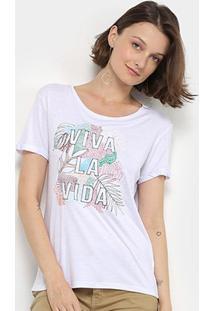 Camiseta Lez Lez Viva La Vida Feminina - Feminino-Branco
