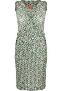 Missoni Vestido De Crochê E Tricô - Verde