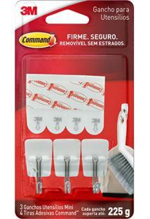 Conjunto De Gancho Em Inox Com Adesivo Command Para Utensílios De Cozinha Com 7 Peças Branco