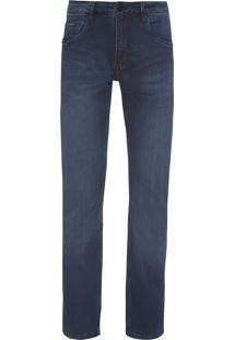 Calça Masculina Slim Straight - Azul