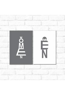 Placa Decorativa Woman And Men